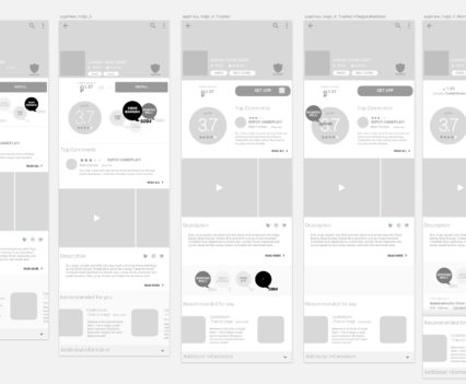 app view wireframing